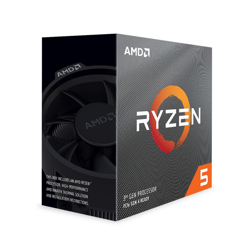 AMD Ryzen 5 3600X, with Wraith Spire cooler